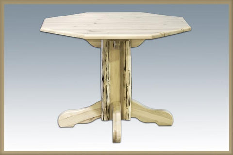 Montana Woodworks MWPTV Table, Center Pedestal Lacquered - Peazz.com