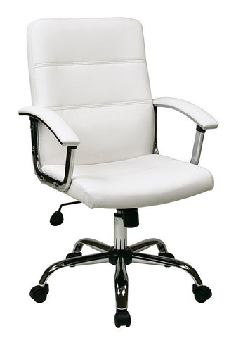 Office Star Ave Six MAL26-WH Malta Office Chair in White - Peazz Furniture