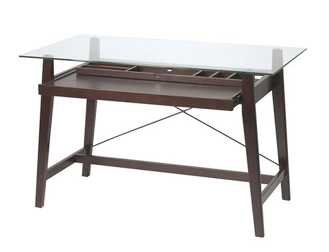 "Office Star OSP Designs TRI2542G 42"" Tool-Less Tribeca Computer Desk - Peazz Furniture"