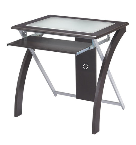Office Star OSP Designs XT59ES Computer Desk with Frosted Glass - Peazz Furniture