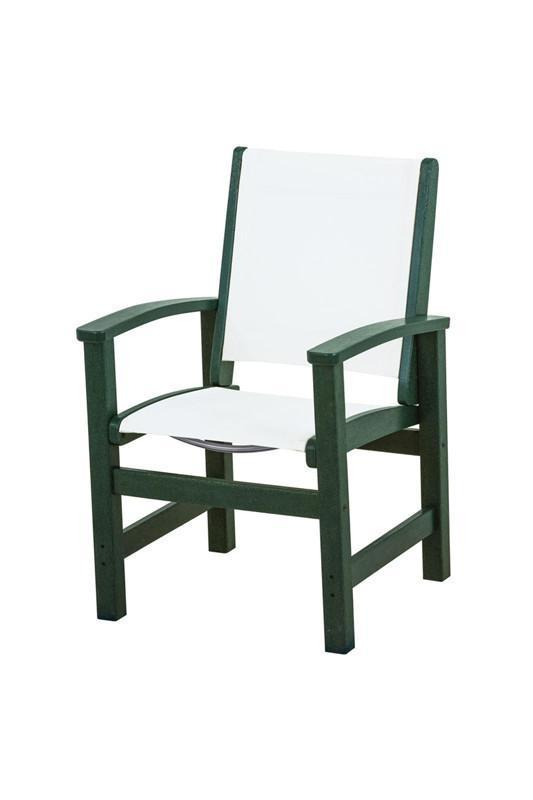 Polywood 9010-gr901 Coastal Dining Chair In Green / White...