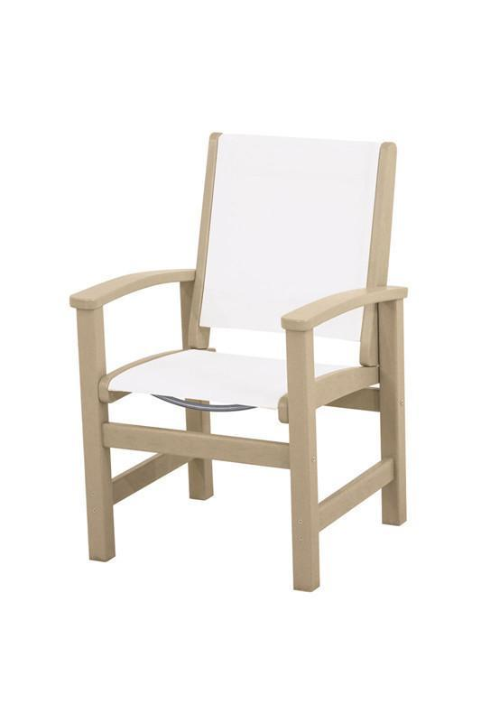 Polywood 9010-sa901 Coastal Dining Chair In Sand / White ...