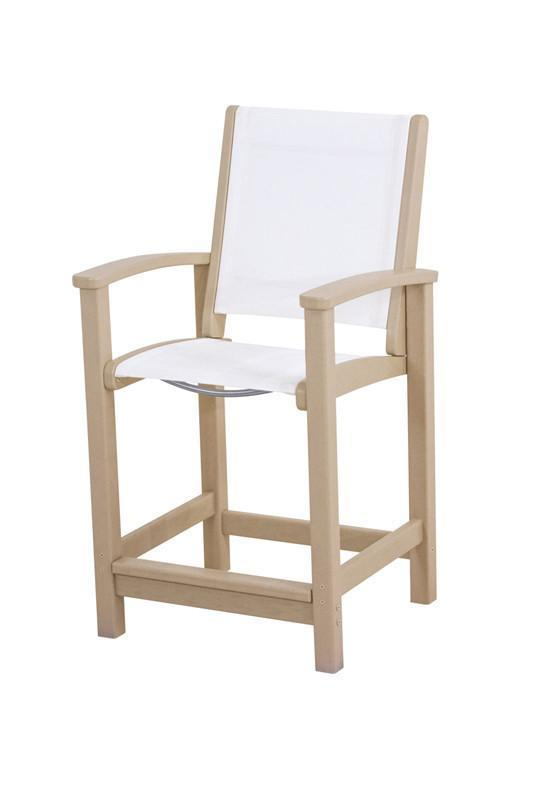 Polywood 9011-sa901 Coastal Counter Chair In Sand / White...