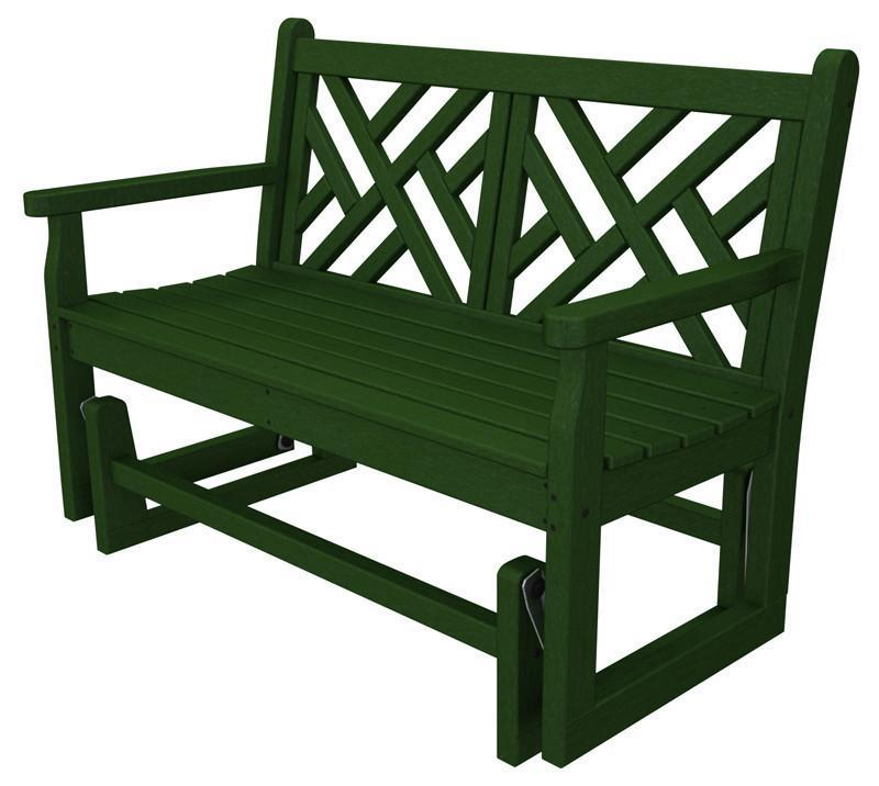 Polywood Cdg48gr Chippendale Glider In Green