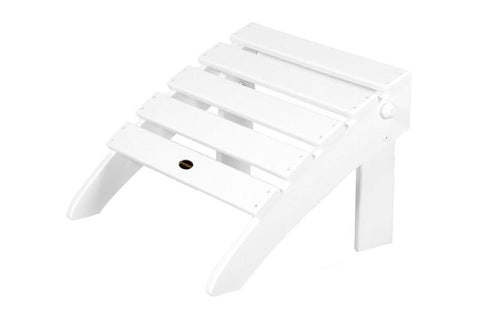 Polywood OT53WH Classic Folding Ottoman in White - PolyFurnitureStore