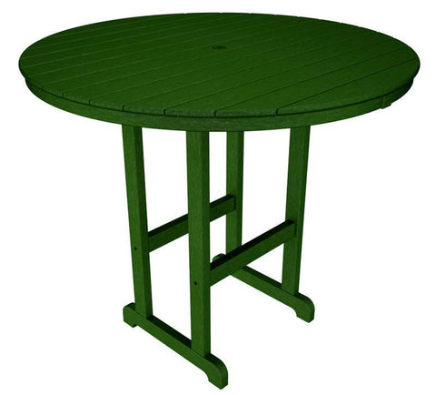 "Polywood RBT248GR Round 48"" Bar Table in Green - PolyFurnitureStore"