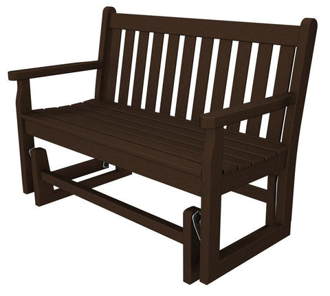 "Polywood TGG48MA Traditional Garden 48"" Glider in Mahogany - PolyFurnitureStore"