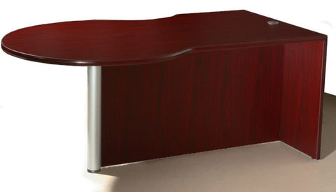 Boss Office Products N647L-M Boss P-Desk Shell, Left Side - Peazz Furniture