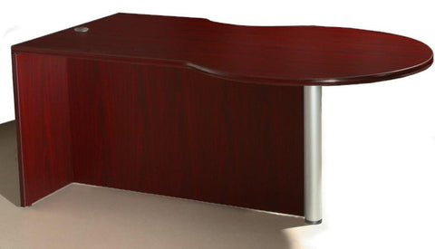 Boss Office Products N647R-M Boss P-Desk Shell, Right Side - Peazz Furniture