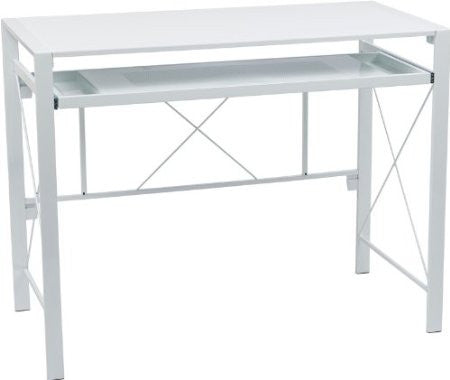 Office Star OSP Designs CRS25-11 Creston Desk with White Frame and White Top - Peazz Furniture