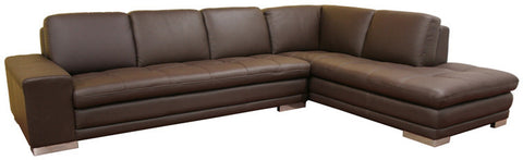 Wholesale Interiors 766-sofa/lying-M9805 Callidora Dark Brown Leather-Leather Match Sofa Sectional - Each - Peazz Furniture