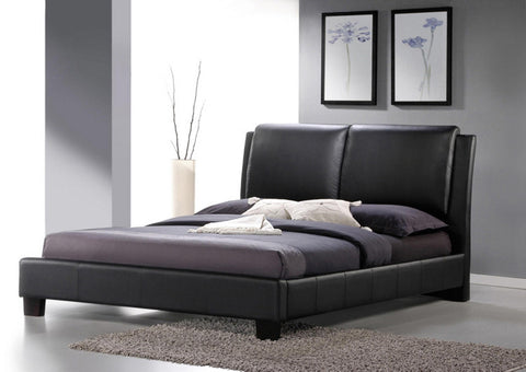 Wholesale Interiors BBT6082-Black-Bed-Full Sabrina Black Modern Bed with Overstuffed Headboard - Full Size - Each - Peazz Furniture
