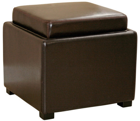 Wholesale Interiors D-219-DU001 Dark Brown Tate Storage Ottoman - Each - Peazz Furniture