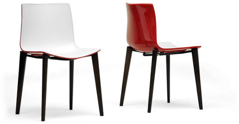 Wholesale Interiors DC-306G-Red/White Soren White and Red Modern Dining Chair - Set of 2 - Peazz Furniture