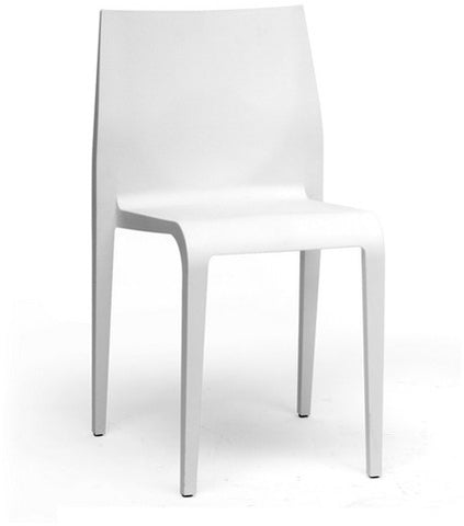 Wholesale Interiors DC-42-White Blanche White Molded Plastic Modern Dining Chair - Set of 2 - Peazz Furniture