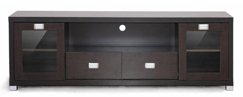 Wholesale Interiors FTV-881 Gosford Brown Wood Modern TV Stand - Each - Peazz Furniture