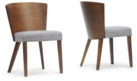 Wholesale Interiors SPARROW DINING CHAIR-109/690 Sparrow Brown Wood Modern Dining Chair - Set of 2 - Peazz Furniture