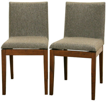 Wholesale Interiors Square Dining Chair-109/670 Moira Brown Modern Dining Chair - Set of 2 - Peazz Furniture