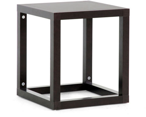 Wholesale Interiors ST-001-AT Hallis Brown Modern Accent Table and Nightstand - Each - Peazz Furniture