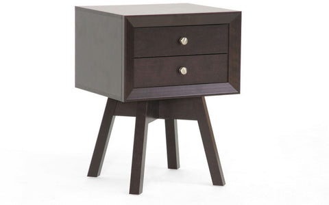 Wholesale Interiors ST-005-AT Warwick Brown Modern Accent Table and Nightstand - Each - Peazz Furniture