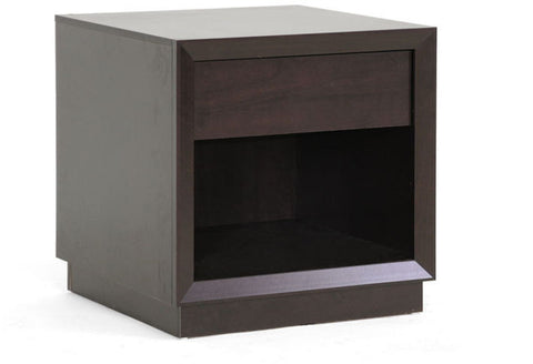 Wholesale Interiors ST-008-AT Girvin Brown Modern Accent Table and Nightstand - Each - Peazz Furniture