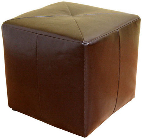 Wholesale Interiors ST-20-brown-ottoman Aric Bonded Leather Ottoman - Each - Peazz Furniture