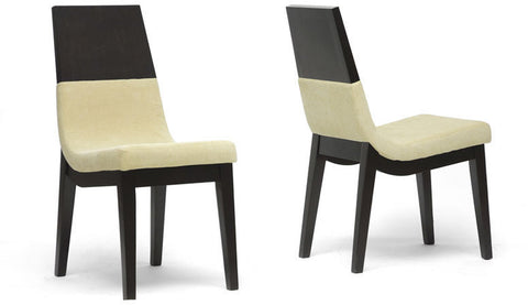 Wholesale Interiors TMH279-DC Prezna Dark Brown and Beige Modern Dining Chair - Set of 2 - Peazz Furniture