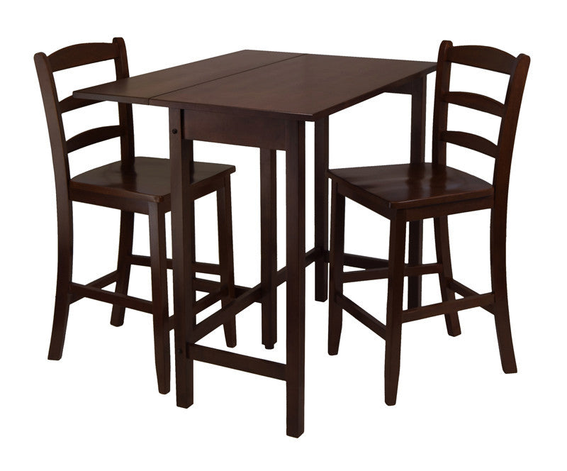Winsome Wood 94334 Lynnwood 3pc Drop Leaf High Table With...