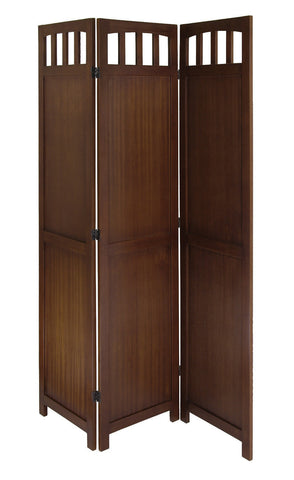 Winsome Wood 94370 3-Panel Wood Folding Screen - Peazz Furniture