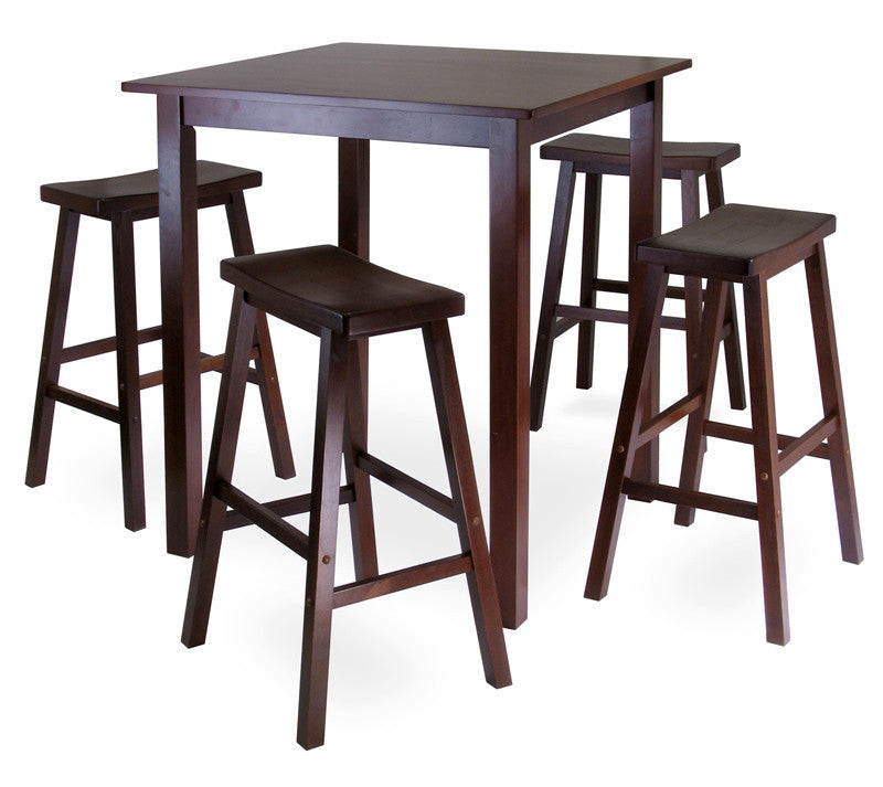 Winsome Wood 94549 Parkland 5pc Square High/pub Table Set...
