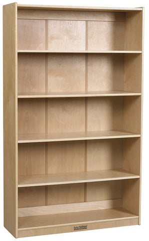 "ECR4Kids ELR-17102 60""H Classic Birch Bookcase - Peazz Furniture"
