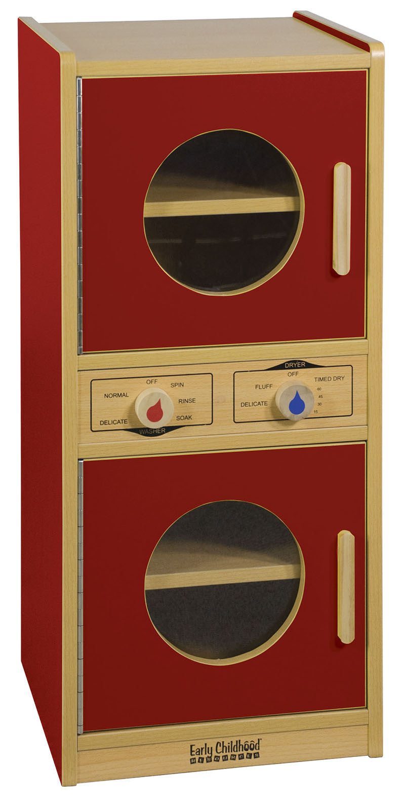 ECR Elr-0744-rd Colorful Essentials Play Washer/dryer - Red