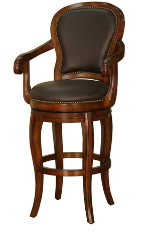 American Heritage Billiards 126844 Santos Counter Height Stool - Peazz Furniture