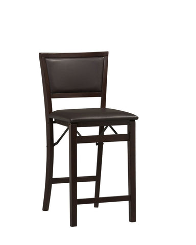 Bayden Hill 01831ESP-01-AS-U Triena -Pad Back Folding Counter Stool 24 - Peazz Furniture