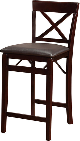 Bayden Hill 01850ESP01ASU Triena X Back Folding Counter Stool - Peazz Furniture