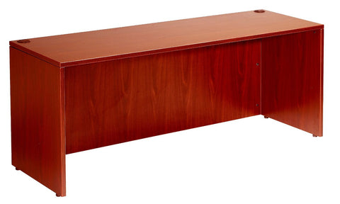 "Boss Office Products N102-C Boss Desk Shell, 66""W X 30""D, Cherry - Peazz Furniture"