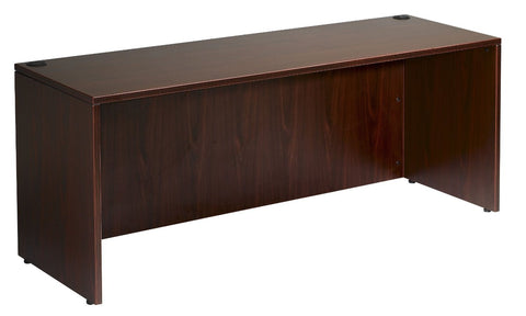 "Boss Office Products N102-M Boss Desk Shell, 66""W X 30""D, Mahogany - Peazz Furniture"