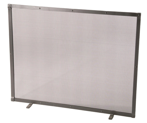 Stone County Ironworks 901-890 Full Faced Single Panel Fire Screen with Feet - Peazz Furniture