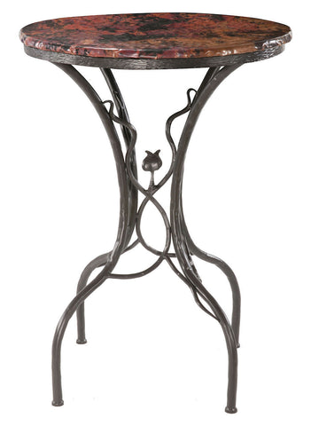 "Stone County Ironworks 903-244-COP Sassafras Bar Table 40"" w/ 30"" top - Peazz Furniture"