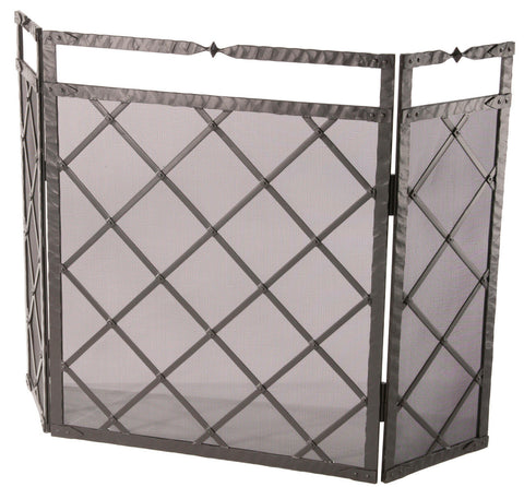 Stone County Ironworks 904-227 Forest Hill Triple Panel Fire Screen - Peazz Furniture