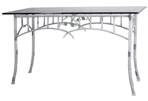 Stone County Ironworks 952-022-GLS Whisper Creek Console or Sofa Table (ivory bark) - Peazz Furniture