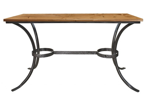 Stone County Ironworks 952-060-DPN Montage Dining or Occasional Table (pewter finish w/ pewter accent) - Peazz Furniture