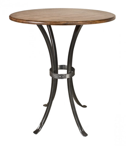 "Stone County Ironworks 952-066-WAL Montage Bar Table (pewter finish w/ pewter accent) 40"" height w/ 30"" top - Peazz Furniture"