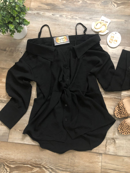 Sweet & Wild Blouse -Black
