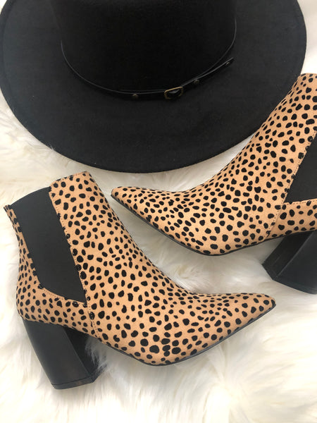 Stubborn Heart Booties -Cheetah