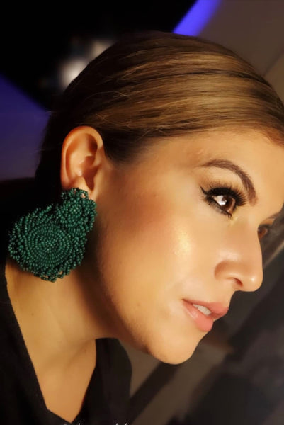 Pamela Earrings -Emerald