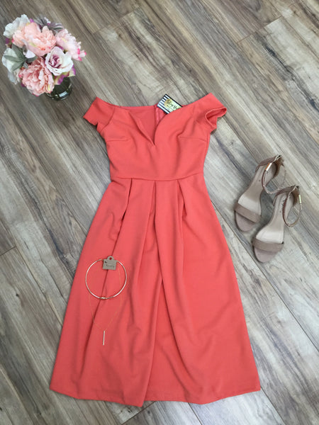 Sublime Dress -Coral