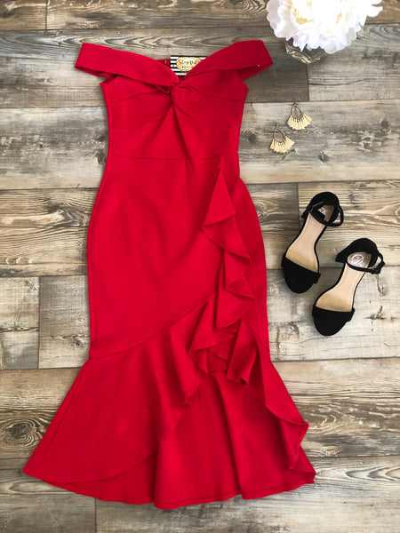 Night is Young Dress -Tomato