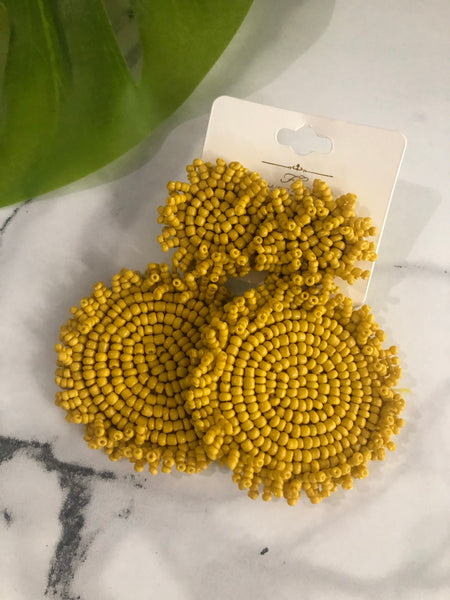 Pamela Earrings -Mustard