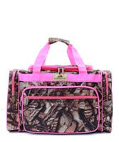 Camo/Camouflage Duffel/Overnight Bag/Gym Bag - Camo and Pink - Personalized/Monogrammed